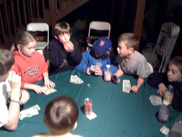 kids playing LCR Dice game